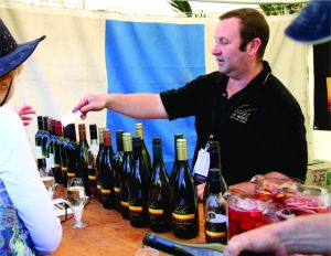 Andy at a wine festival in 2010.